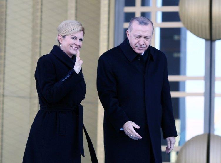 Hırvat Cumhurbaşkanı Türkiye'de