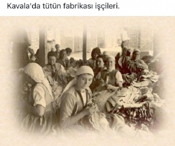 Kavala'da Tütün İşleyen Kadınlar