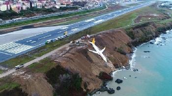 Kaza Yapan Uçak Denize 25 Metre Kala Durdu