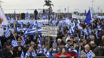 Yunanistan'da ''Prespa'' Protestosu
